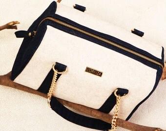 Vegan Duffel cork leather bag - Eco friendly