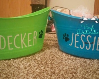 Simple Dog Toy Bucket