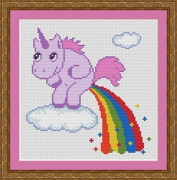 Free Counted Cross Stitch Of Unicorns Patterns Patterns Kid