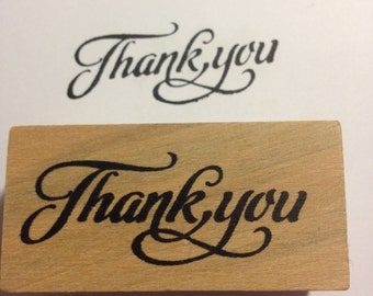 Thank You Wooden Rubber Stamp
