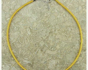 "40% CLEARANCE 3mm yellow gold silk cord necklace 18"" 5977"