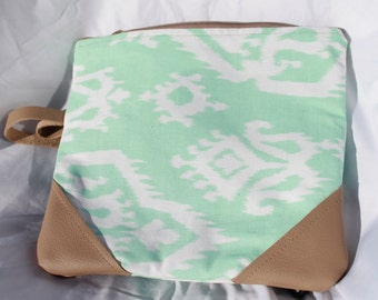 Mint Fold Over Clutch