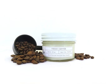Fresh Coffee Soy Candle - 4oz Hand Poured