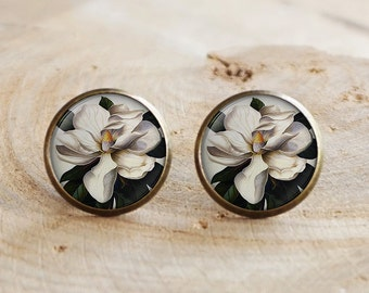 Southern Magnolia Earring, magnolia flower, magnolia jewelry magnolia Earring , magnolia stud earring
