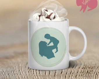 Mother With Baby Coffee Mug, Mother's Day Gift, Coffee Mug, Loving Mother Coffee Mug