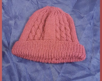 Plum Cabled Hat