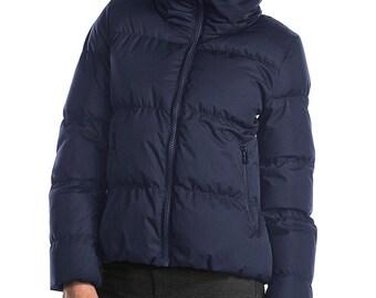 FERA Ski Wear  Black Duck Waterfowl Feather  Puffer Down Coat Women Jacket Size 14