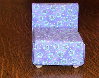 Small upholstered chair for Doll house