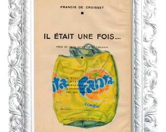 Lemon fanta. Print on French publication of illustration. 28x19cm.