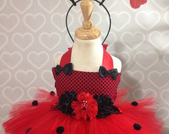 Lady bug dress/lady bug tutu dress/lady bug birthday dress