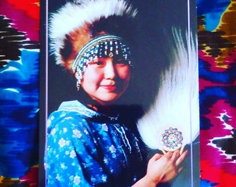 Alaskan Native Beauty blank Postcard