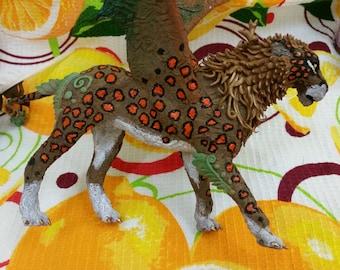 "Manticore ""Lee Vern"" handmade fantasy sculpture"