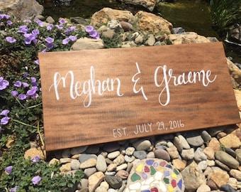Wood Wedding SIgn, Wedding SIgn, Wedding Gift, Wedding Decor, Anniversary Gift