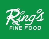 Ring's Fine Food Restaurant Vintage T-shirt