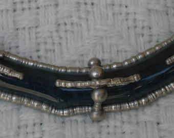 """Sculpted Solder & Glass Pendant, """"Barges"""""""