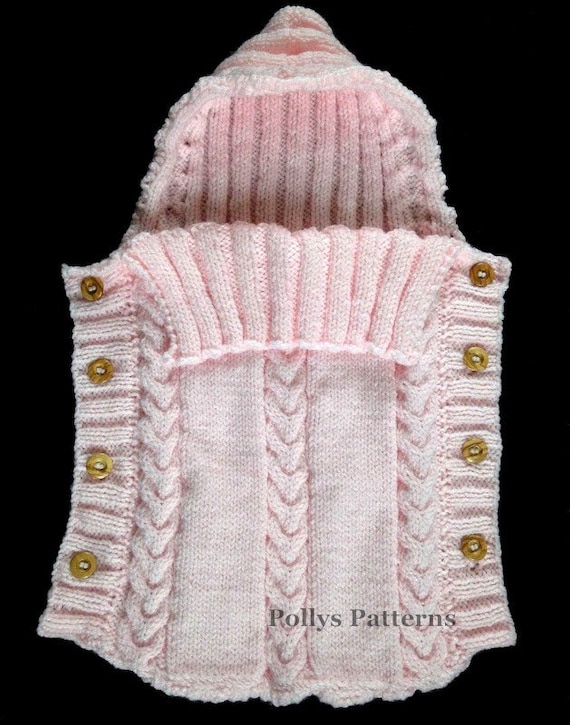 Knitting Pattern Sleeping Bag : PDF Knitting Pattern Baby Sleeping Bag Cocoon Sleep Sack