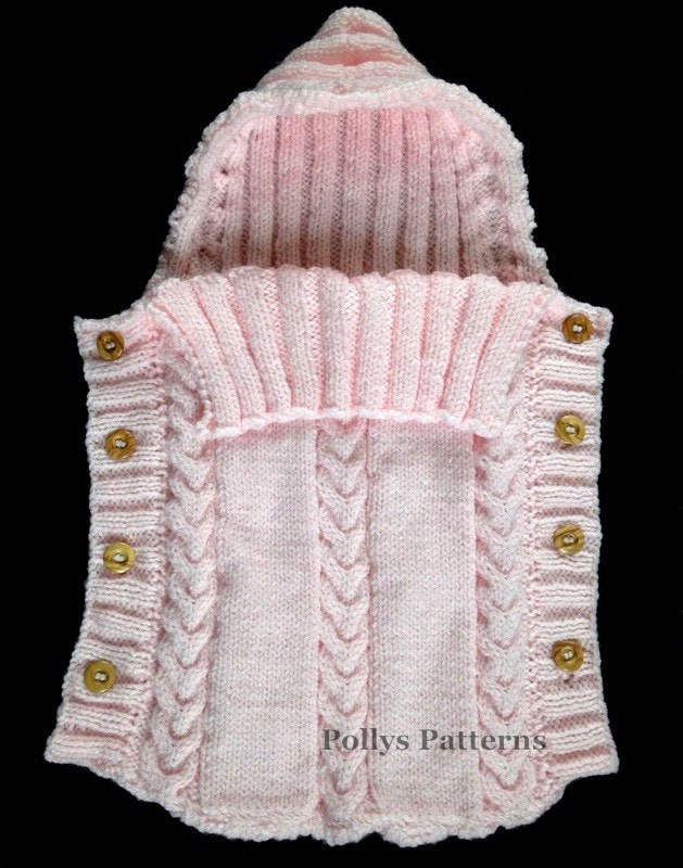 PDF Knitting Pattern Baby Sleeping Bag Cocoon Sleep Sack
