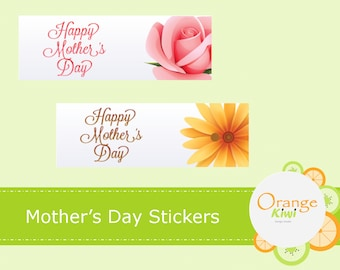 Mother's Day Stickers - Mother's Day Labels - Happy Mother's Day