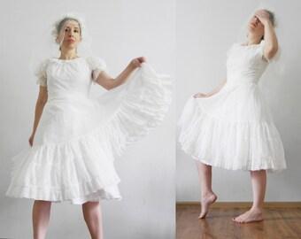 Vintage short wedding dress | Etsy