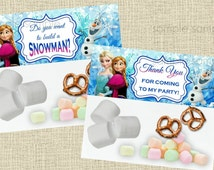 Frozen Treat Bag Topper - Candy Bag - Disney Inspired Princess Frozen Food Bag Topper - Instant Download - Do you want to build a snowman