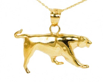 10k Yellow Gold Panther Necklace