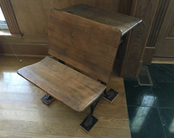 Interesting Antique School Desk Chair From The Waltons Tv Show Prop R Intended Decorating Ideas