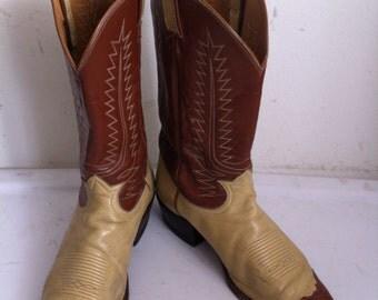 Tony Lama boots men's size 11 1/2D,  western vintage cowboy boots.