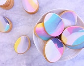 Luxe Marbled Easter Egg Sugar Cookies