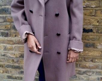 Military 100% Wool Longline Coat