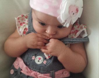 Pink PolkaDot Baby HeadBand