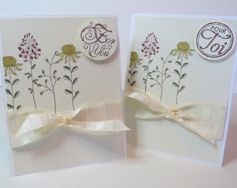 """Greeting card, Birthday card, Thank You card """"Flowering field"""" English or french"""