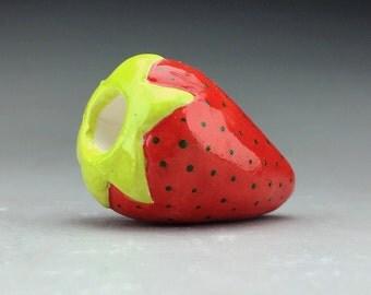 Small Strawberry Ceramic Fruit Pipe