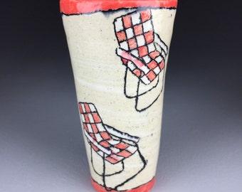 Ceramic Lawn Chair Cup / Tumbler
