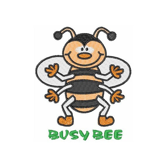 Busy bee machine embroidery design by concordcollections