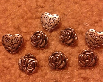 Romantic Buttons (8 piece)