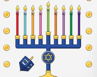 Hanukkah Menorah Art for kids and families