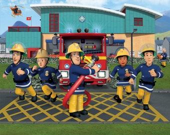 Feuerwehrmann sam etsy - Feuerwehrmann sam wandbild ...