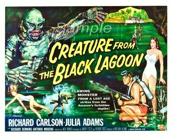 Vintage Creature From the Black Lagoon Poster Print