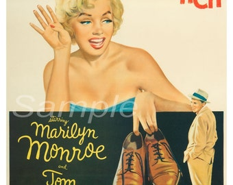 Vintage The Seven Year Itch Marilyn Monroe Movie Poster Print