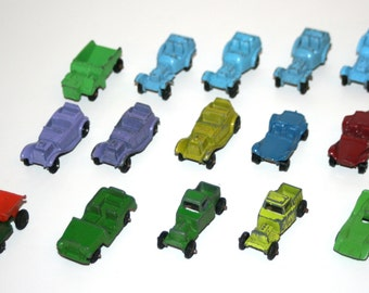 Vintage 1970's TOOTSIETOY / MIDGETOY Lot of 15 Diecast Vehicles - Made In USA