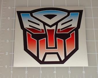 Transformers Autobot Logo Emblem Symbol Insignia Vehicle Car Window Bumper Laptop Tablet 3M Decal Sticker