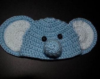 Newborn crochet elephant hat