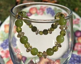 AmberRose Green Stretch Bracelet