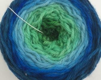 Gradient worsted weight yarn // Poseidon
