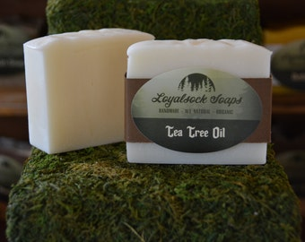 Tea Tree Oil Soap - organic, handmade, all natural, cold process,