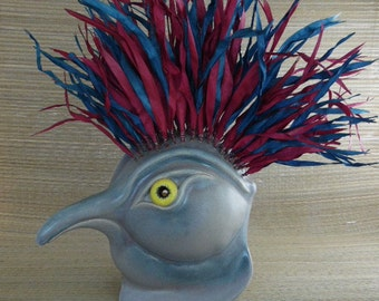 Crowned Bird Mask Wall Art