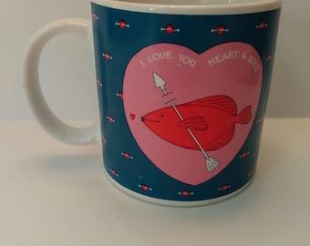 Taylor  Ng coffee mug I love you heart & sole Made in Japan
