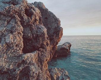 Sea - Sky - Cliff - Sea Photo - Seascape Photography - Nature - Digital Photo - Digital Download - Instant Download - Fine Art Photography