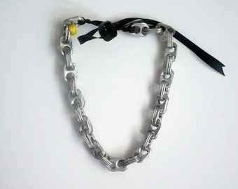 Eco friendly pop tab necklace, handmade and fabulous