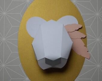 trophy bear paper DIY